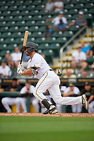 Bradenton Marauders Ernny Ordonez (14) bats during Game One of the Low-A Southeast Championship Series against the Tampa Tarpons on September 21, 2021 at LECOM Park in Bradenton, Florida.  (Mike Janes/Four Seam Images)