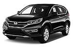2015 Honda CR-V Elegance 5 Door SUV Angular Front stock photos of front three quarter view