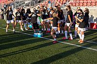 HERRIMAN, UT - JULY 12: Utah Royals FC bench rallies during a game between Utah Royals FC and Chicago Red Stars at Zions Bank Stadium on July 12, 2020 in Herriman, Utah.