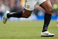 The legs of Antonio Valencia of Manchester United