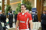 Wales Captain Sam Warburton at the official launch of the RBS Six Nations rugby tournament at the Hurlingham Club in London..