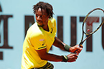 Gael Monfils during Madrid Open Tennis 2015 match.May, 5, 2015.(ALTERPHOTOS/Acero)