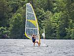 Eagles Mere Lake. Sailboarding.