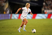 PASADENA, CALIFORNIA - August 03: Lindsey Horan #9 during their international friendly and the USWNT Victory Tour match between Ireland and the United States at the Rose Bowl on August 03, 2019 in Pasadena, CA.