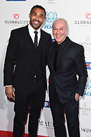 Calum Wilson and Jeff Mostyn (Bournmouth chaiman)<br /> arriving for the Football for Peace initiative dinner by Global Gift Foundation at the Corinthia Hotel, London<br /> <br /> ©Ash Knotek  D3493  08/04/2019