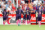 FC Barcelona's players celebrate goal during La Liga match. September 24,2016. (ALTERPHOTOS/Acero)