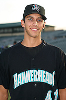 April 13, 2009:  Relief Pitcher Steve Cishek (41) of the Jupiter Hammerheads, Florida State League Class-A affiliate of the Florida Marlins, during a game at Roger Dean Stadium in Jupiter, FL.  Photo by:  Mike Janes/Four Seam Images