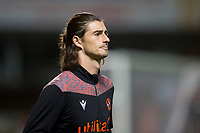 2nd October 2020; Tannadice Park, Dundee, Scotland; Scottish Premiership Football, Dundee United versus Livingston; Ian Harkes of Dundee United during the warm up before the match
