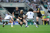 Petrus du Plessis of Saracens in action during the Premiership Rugby Round 1 match between Saracens and Wasps at Twickenham Stadium on Saturday 6th September 2014 (Photo by Rob Munro)