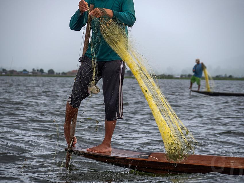 Fishing and Life on Inle lake, Myanmar, Burma
