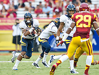 LOS ANGELES, CA - September 22, 2012:  Cal Bears wide receiver Keenan Allen (21) during the USC Trojans vs the Cal Bears at the Los Angeles Memorial Coliseum in Los Angeles, CA. Final score USC 27, Cal 9.