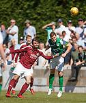 30.06.18 Linlithgow Rose v Hibs: Paul Hanlon and Thomas Cowie