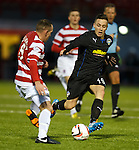 Barrie McKay on loan from Rangers and attacking for Morton