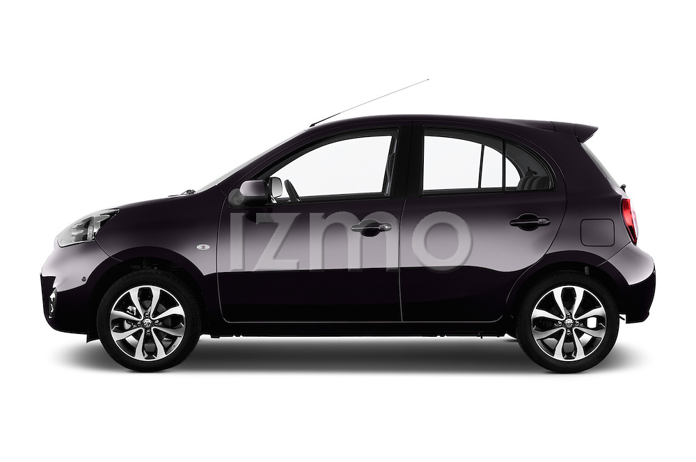 Driver side profile view of a 2013 - 2014 Nissan MICRA 5 Door Hatchback 2WD