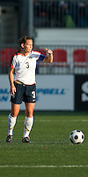 Christie Rampone. The US Women's National Team defeated the Canadian Women's National Team, 4-0, at BMO Field in Toronto during an international friendly soccer match on May 25, 2009.