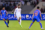 Waleed Mohamed Alhayam of Bahrain (C) in action during the AFC Asian Cup UAE 2019 Group A match between India (IND) and Bahrain (BHR) at Sharjah Stadium on 14 January 2019 in Sharjah, United Arab Emirates. Photo by Marcio Rodrigo Machado / Power Sport Images