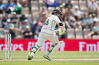 Tom Latham of New Zealand pushes into the on side for runs during India vs New Zealand, ICC World Test Championship Final Cricket at The Hampshire Bowl on 23rd June 2021