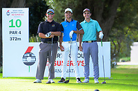 From left, Trevor Marshall, James Tauariki and Liam Finlayson. Day two of the Jennian Homes Charles Tour / Brian Green Property Group New Zealand Super 6's at Manawatu Golf Club in Palmerston North, New Zealand on Friday, 6 March 2020. Photo: Dave Lintott / lintottphoto.co.nz