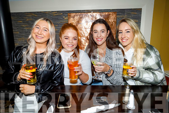 Hailey James, Laura Mitchell, Ciara Crowley and Margaret Everett enjoying the evening in the Brogue Inn on Friday.
