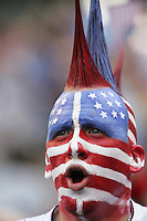 USA fan. USA defeated Grenada 4-0 during the First Round of the 2009 CONCACAF Gold Cup at Qwest Field in Seattle, Washington on July 4, 2009.