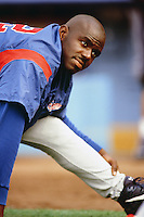 Rondell White of the Montreal Expos during a game against the Los Angeles Dodgers at Dodger Stadium circa 1999 in Los Angeles, California. (Larry Goren/Four Seam Images)