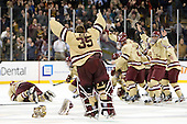 - The Boston College Eagles defeated the Boston University Terriers 3-2 (OT) to win the 2012 Beanpot championship on Monday, February 13, 2012, at TD Garden in Boston, Massachusetts.