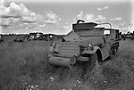 FRANCE WORLD WAR II CAR DUMPS LANDSCAPE1967