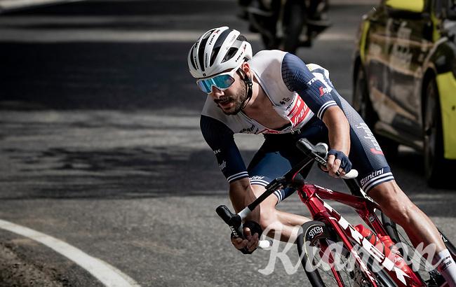 Julien Bernard (FRA/Trek-Segafredo) in the descent of the Col de Beixalis<br /> <br /> Stage 15 from Céret to Andorra la Vella (191km)<br /> 108th Tour de France 2021 (2.UWT)<br /> <br /> ©kramon