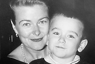 San Francisco, U.S.A, April, 1987. Copy of Robin William's family picture  with his mother, Lorie Williams. The date and the place of the original photo are unknown.