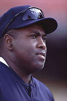 Tony Gwynn of the San Diego Padres during a 2001 season MLB game at Dodger Stadium in Los Angeles, California. (Larry Goren/Four Seam Images)