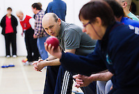 20 OCT 2011 - DISS, GBR - Iain Dawson organises a game of boccia  for members of the multi sport club for people with learning disabilities that he helped to found after becoming aware of its need during his work as a physiotherapist (PHOTO (C) NIGEL FARROW)