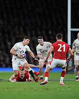 Ben Youngs of England breaks for the line during the Guinness Six Nations match between England and Wales at Twickenham Stadium on Saturday 7th March 2020 (Photo by Rob Munro/Stewart Communications)