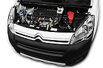 Car Stock 2016 Citroen Berlingo-Furgon Club-M 4 Door Car Van Engine  high angle detail view