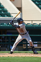 Detroit Tigers Jose De La Cruz (31) bats during a Florida Instructional League intrasquad game on October 17, 2020 at Joker Marchant Stadium in Lakeland, Florida.  (Mike Janes/Four Seam Images)