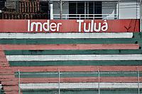 TULUA - COLOMBIA, 14-02-2021: Cortuluá y Atlético Huila en partido por la fecha 6 como parte del Torneo BetPlay DIMAYOR I 2021 jugado en el estadio Doce de Octubre de la ciudad de Tuluá. / Cortulua and Atletico Huila in the match for the date 6 as part of BetPlay DIMAYOR Tournament I 2021 played at Doce de Octubre stadium in Tulua city. Photo: VizzorImage / Gabriel Aponte / Staff