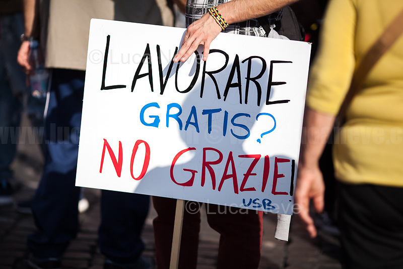 """Work For Free? No Thanks!""<br />
