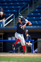 Lowell Spinners second baseman Grant Williams (11) at bat during a game against the Staten Island Yankees on August 22, 2018 at Richmond County Bank Ballpark in Staten Island, New York.  Staten Island defeated Lowell 10-4.  (Mike Janes/Four Seam Images)