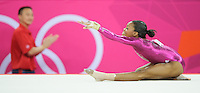 London, England - Thursday, August 2, 2012: USA's Gabrielle Douglas competes in the floor exercise and wins gold in the women's gymnastics individual all around at the London 2012 Summer, Olympic Games, North Greenwich Arena, London. .