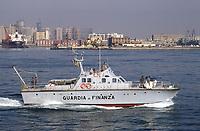"""- Italian finance police, G.70 """"Gabriele""""  patrol boat navigating in the Gulf of Naples<br /> <br /> - Guardia di Finanza, motovedetta G.70 """"Gabriele"""" in navigazione nel golfo di Napoli"""