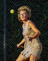 Hilversum, The Netherlands,  August 23, 2019,  Tulip Tennis Center, NSK, Marjolein de Lange-Oudegeest (NED)<br /> Photo: Tennisimages/Henk Koster
