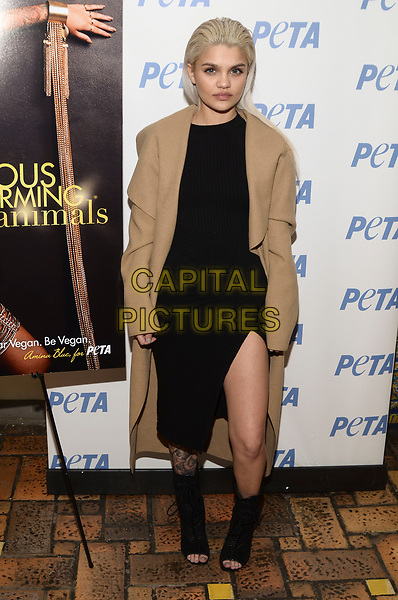 NEW YORK, NY - MARCH 30: Model Amina Blue Unveils New PETA Campaign at West Side YMCA on March 30, 2017 in New York City. <br /> CAP/MPI/RH<br /> ©RH/MPI/Capital Pictures