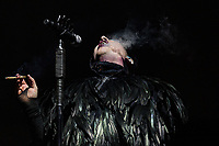 HOUSTON, TEXAS - NOVEMBER 09: Marilyn Manson performs during the second annual Astroworld Festival at NRG Park on November 9, 2019 in Houston, Texas. Photo: Trish Badger/imageSPACE/MediaPunch