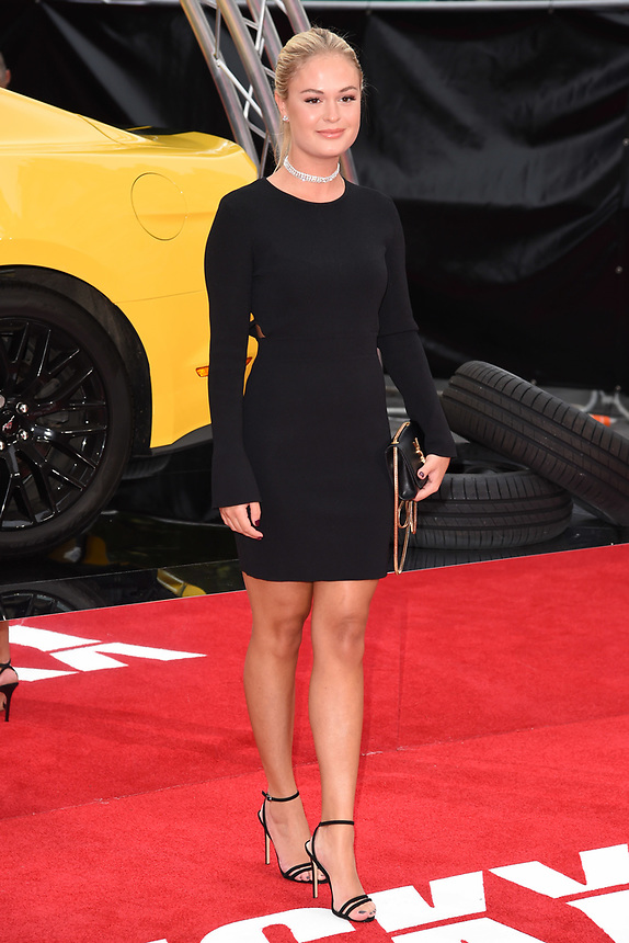 """Ella Willis<br /> attending the premiere of """"Logan Lucky"""" at the Vue West End, Leicester Square, London. <br /> <br /> <br /> ©Ash Knotek  D3295  21/08/2017"""