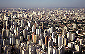 Sao Paulo, Brazil. Aerial view of the city with high rise buildings stretching into the distance.
