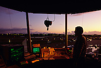 Air traffic controller [ATC] directing aircraft movement