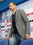 Getafe's new coach Juan Eduardo Esnaider during his official presentation. April 13, 2016. (ALTERPHOTOS/Acero)
