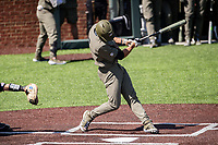 Vanderbilt Commodores right fielder Isaiah Thomas (8) at bat against the South Carolina Gamecocks at Hawkins Field in Nashville, Tennessee, on March 21, 2021. The Gamecocks won 6-5. (Danny Parker/Four Seam Images)