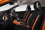 Front seat view of 2017 Nissan Micra Tekna 5 Door Hatchback Front Seat  car photos