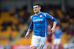 St Johnstone v Motherwell…20.02.16   SPFL   McDiarmid Park, Perth<br />Graham Cummins<br />Picture by Graeme Hart.<br />Copyright Perthshire Picture Agency<br />Tel: 01738 623350  Mobile: 07990 594431