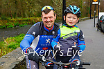 Ready for a cycle in the Killarney National park on Sunday, l to r: Richard and George Cleverley.